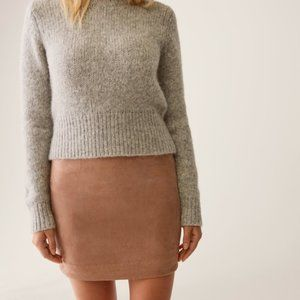 Wilfred Free Faux Suede Mini Skirt
